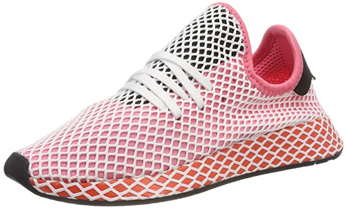 f0b77991e adidas Originals Women s Sneaker Deerupt in Mesh Rosa Bianca E Rossa 5(UK)-
