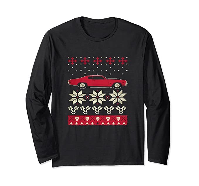 Amazon Com Muscle Car Ugly Christmas Sweater Clothing