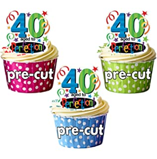 Astonishing Made4You 40Th Birthday Funny Edible Cupcake Toppers Stand Up Funny Birthday Cards Online Aeocydamsfinfo