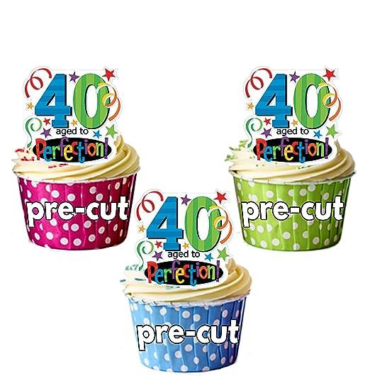 Precortado 40th cumpleaños años a la perfección - Decoración ...