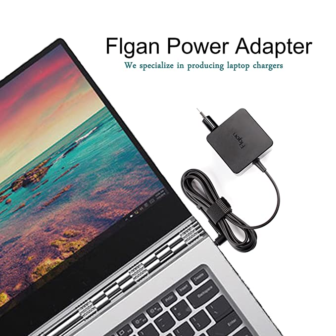 flgan 45 W 20 V 2,25 A Cargador Adaptador para Lenovo B50 B50 - 10 B50 - 50 ideapda 110 110s 300 310 320 320S 510 510S 520 520S 710 710S Miix 510 Chromebook ...