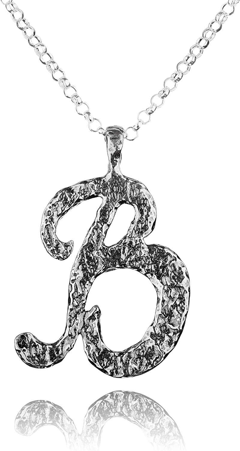 Paz Creations .925 Sterling Silver Personalized Necklace - Variety of Letters