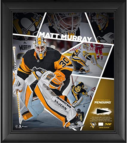 """94c6e27c866 Matt Murray Pittsburgh Penguins Framed 15"""" x 17"""" Impact Player  Collage with a Piece"""