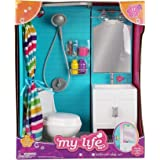 "My Life as 18"" Doll 17 Pc Bathroom Playset - Light up vanity, Flushing Toilet"
