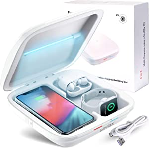 4 in 1 Wireless Charger Phone Cleaner for iPhones Airpods Apple-Watch Samsung, Multi-Function Smartphones Wireless Charger