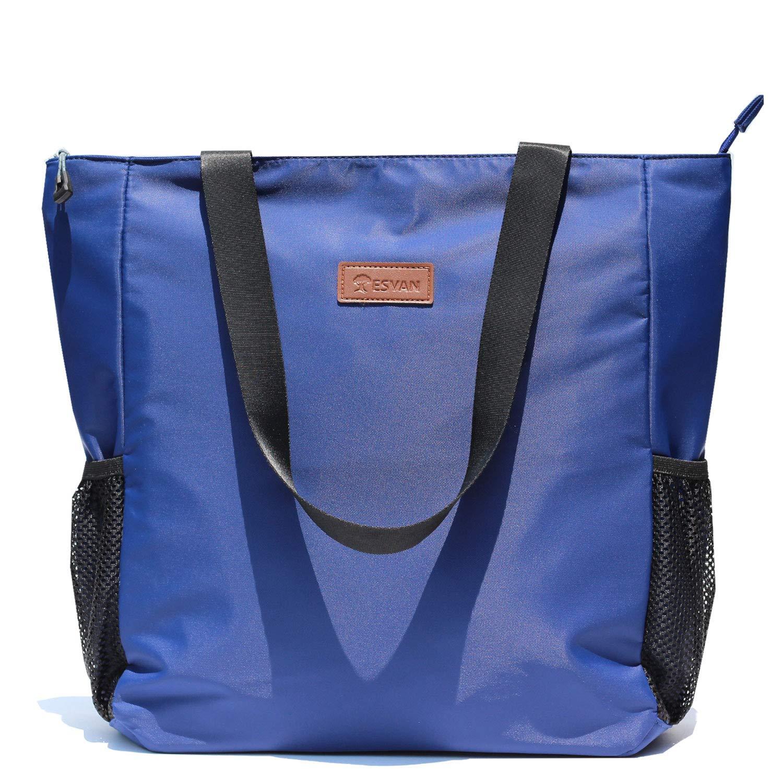 ESVAN Foldable Gym Bag Woman Totes Lightweight Shoulder Handbag Purse Outdoor Weekend Bag
