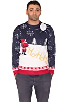 Noroze Premium Mens Novelty Knitted Christmas Sweater Jumpers + FREE CAP