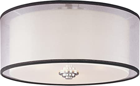 Maxim 23031swsn Orion 3 Light Flush Mount Satin Nickel Finish Satin White Glass Mb Incandescent Incandescent Bulb 8 5w Max Wet Safety Rating 3000k Color Temp Shade Material 595 Rated Lumens Flush Mount