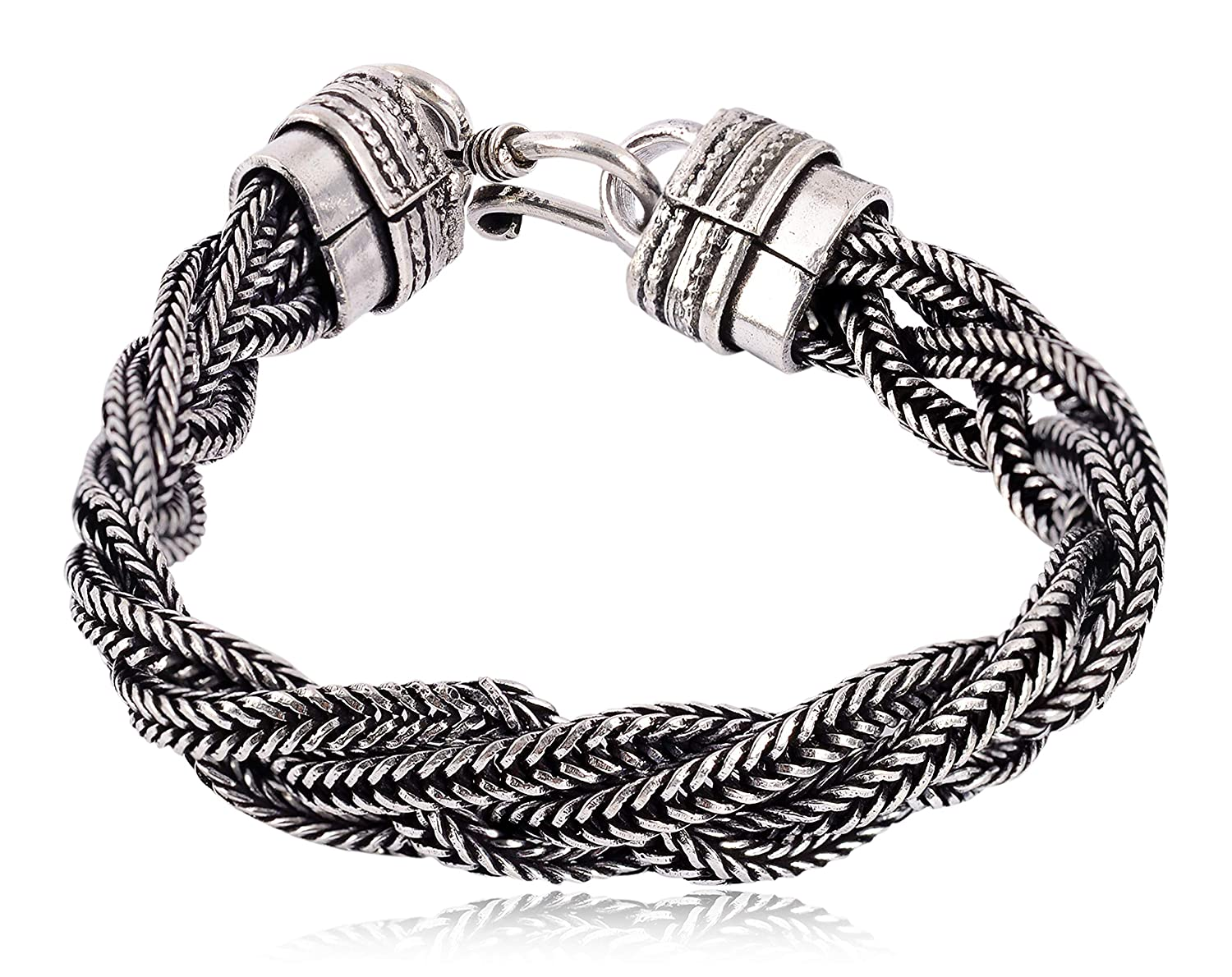 Buy Sanaa Creations Traditional Silver Plated Oxidized Bracelet