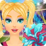 american girl doll games - Cheerleader Salon: Spa, Makeup and Dress Up Girly Girl Makeover Games with Face Paint