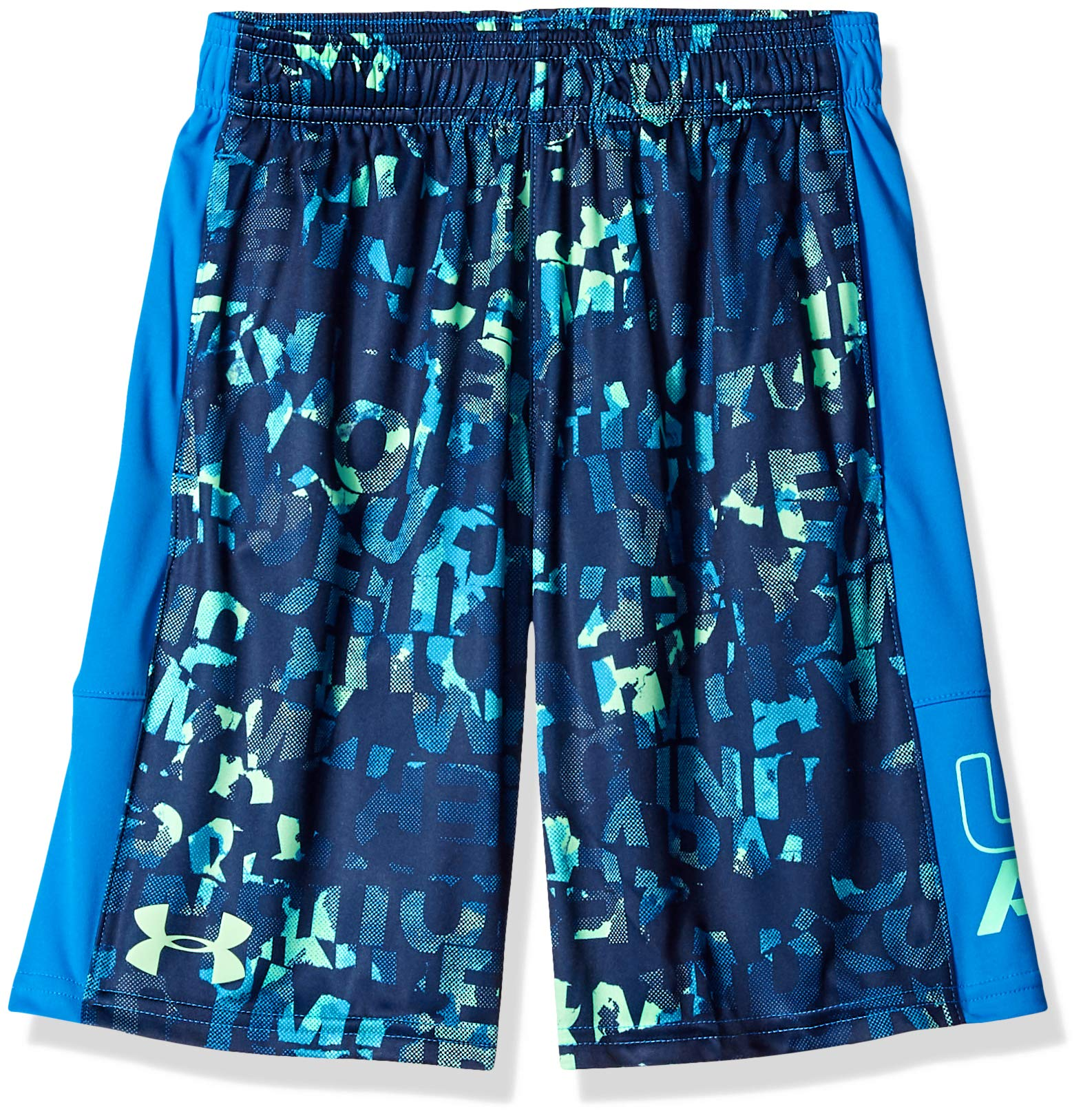 Under Armour Boys' Instinct Printed Shorts,  Academy (408)/Green Typhoon  Youth X-Small by Under Armour (Image #1)