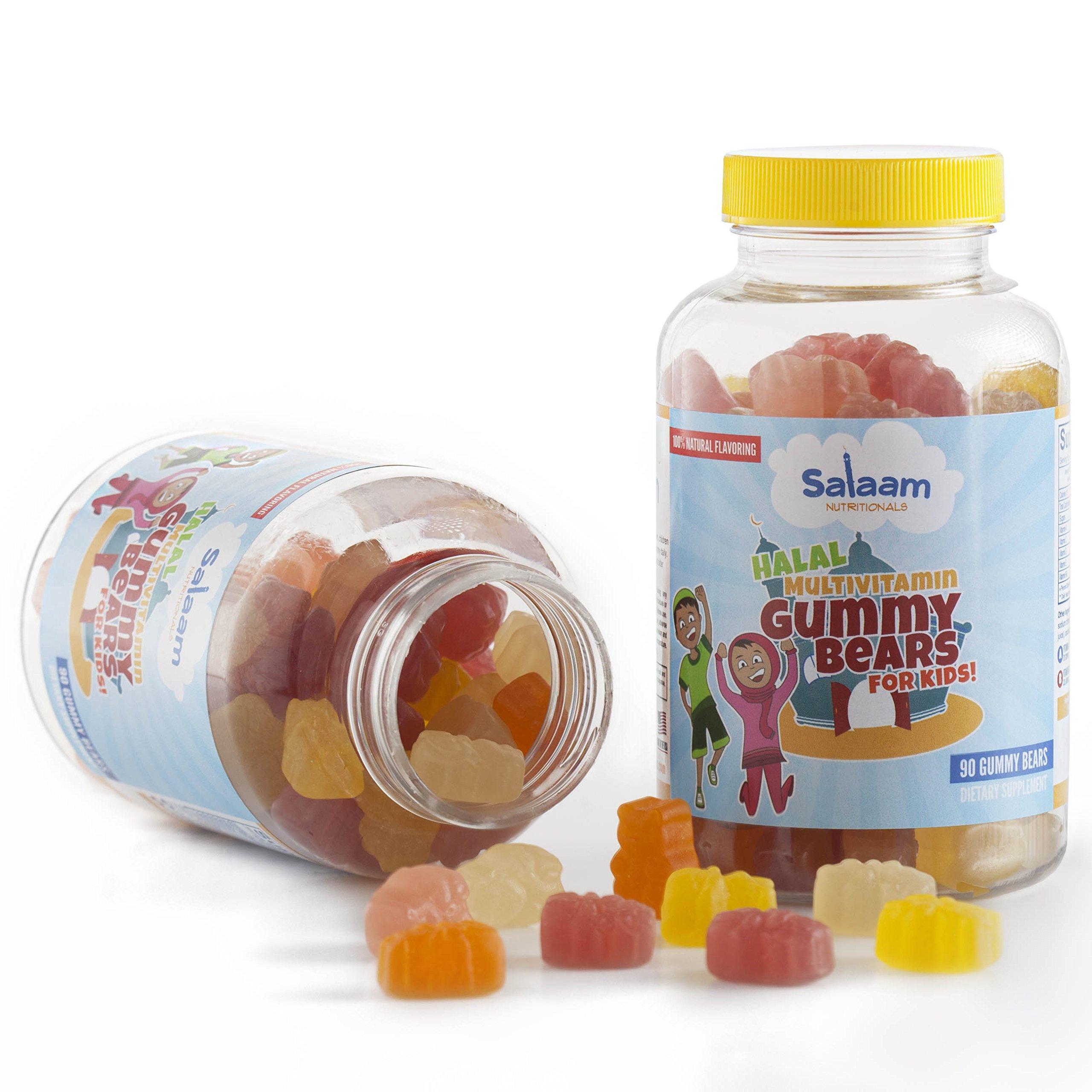 Salaam Nutritionals Halal Gummy Multivitamins for Kids, Complete Nutrition, Pectin Based *Best Tasting* (2 pack)