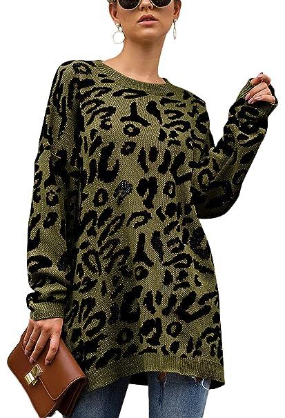 Amazon.com: ECOWISH suéter de manga larga con estampado de ...