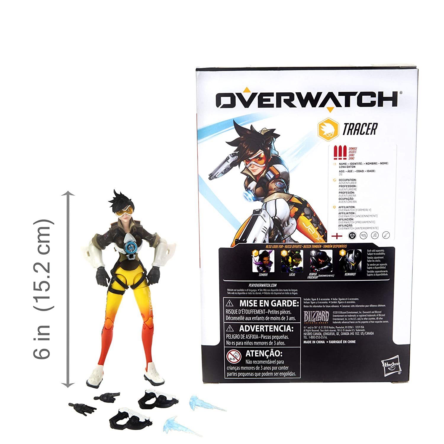 Amazon.com: Hasbro Overwatch Ultimates Series Tracer 6