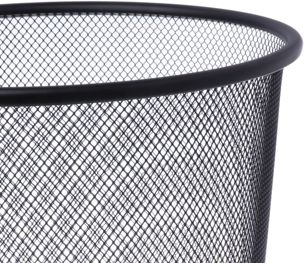 Black Light-Weight Dustbin For Home /& Office Gabz New Trash Can//Mesh Bin