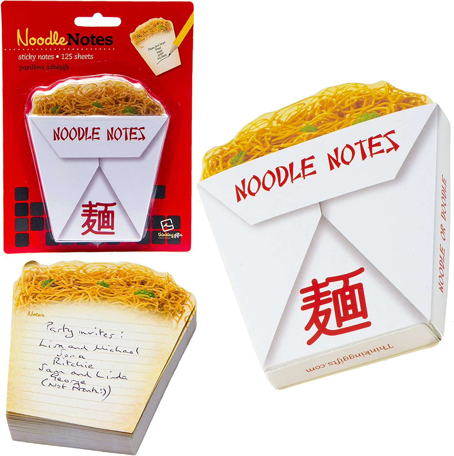 Yummy Sticky Notes Novelty Food Snacks School Office Notepad Memo Note Pad Gift - Noodles