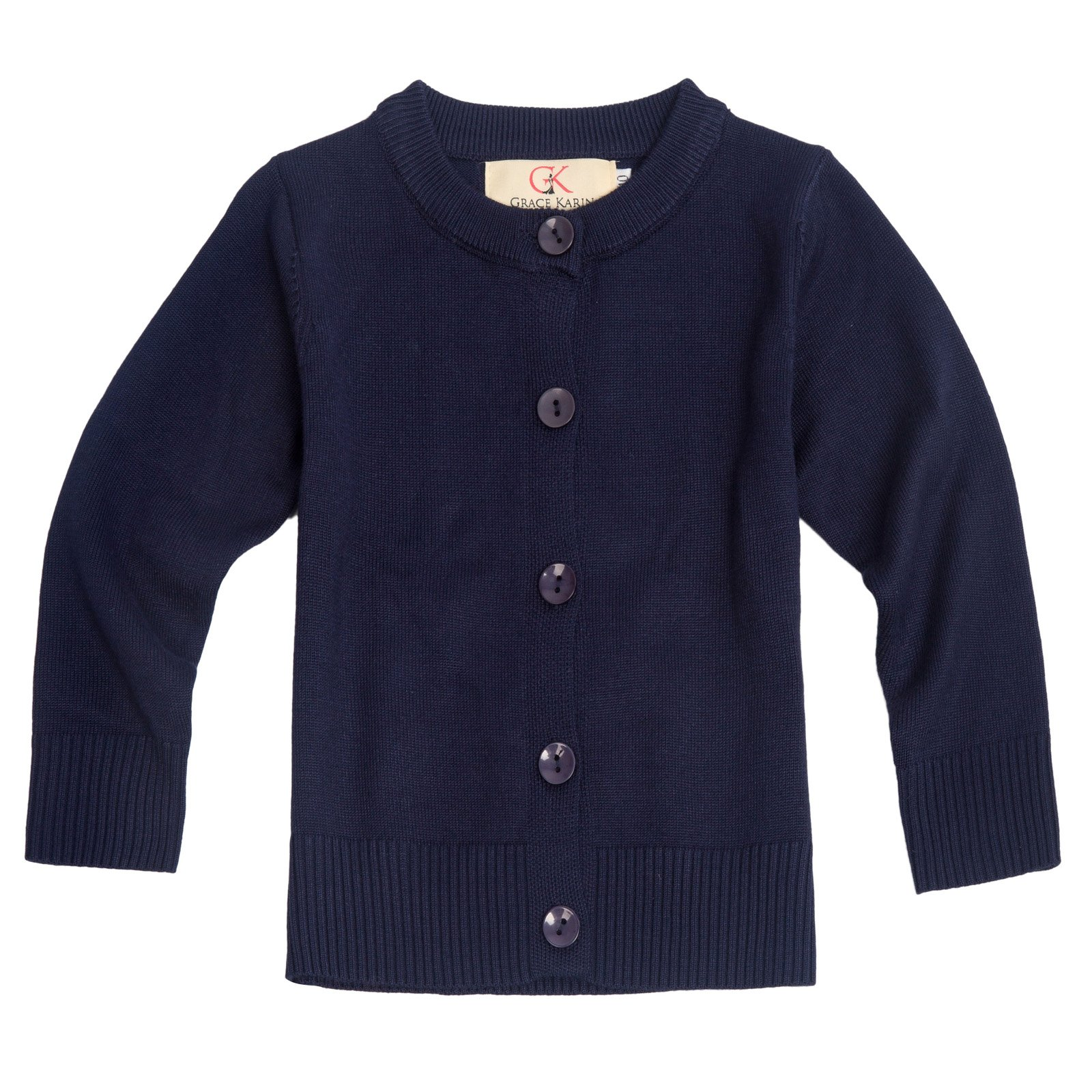 Girls Knit Jacket Long Sleeve Solid Color Cardigan Sweater 8-9yrs AM2004-2
