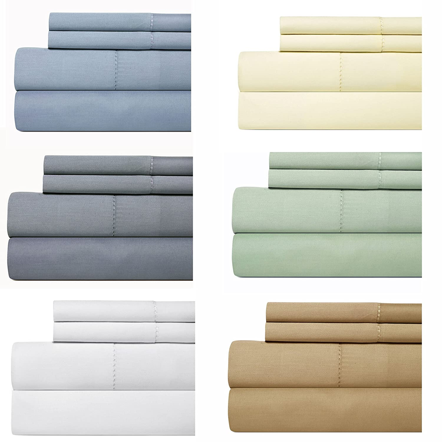 Cotton Queen Sheet Set, 4-Piece Bedding Set