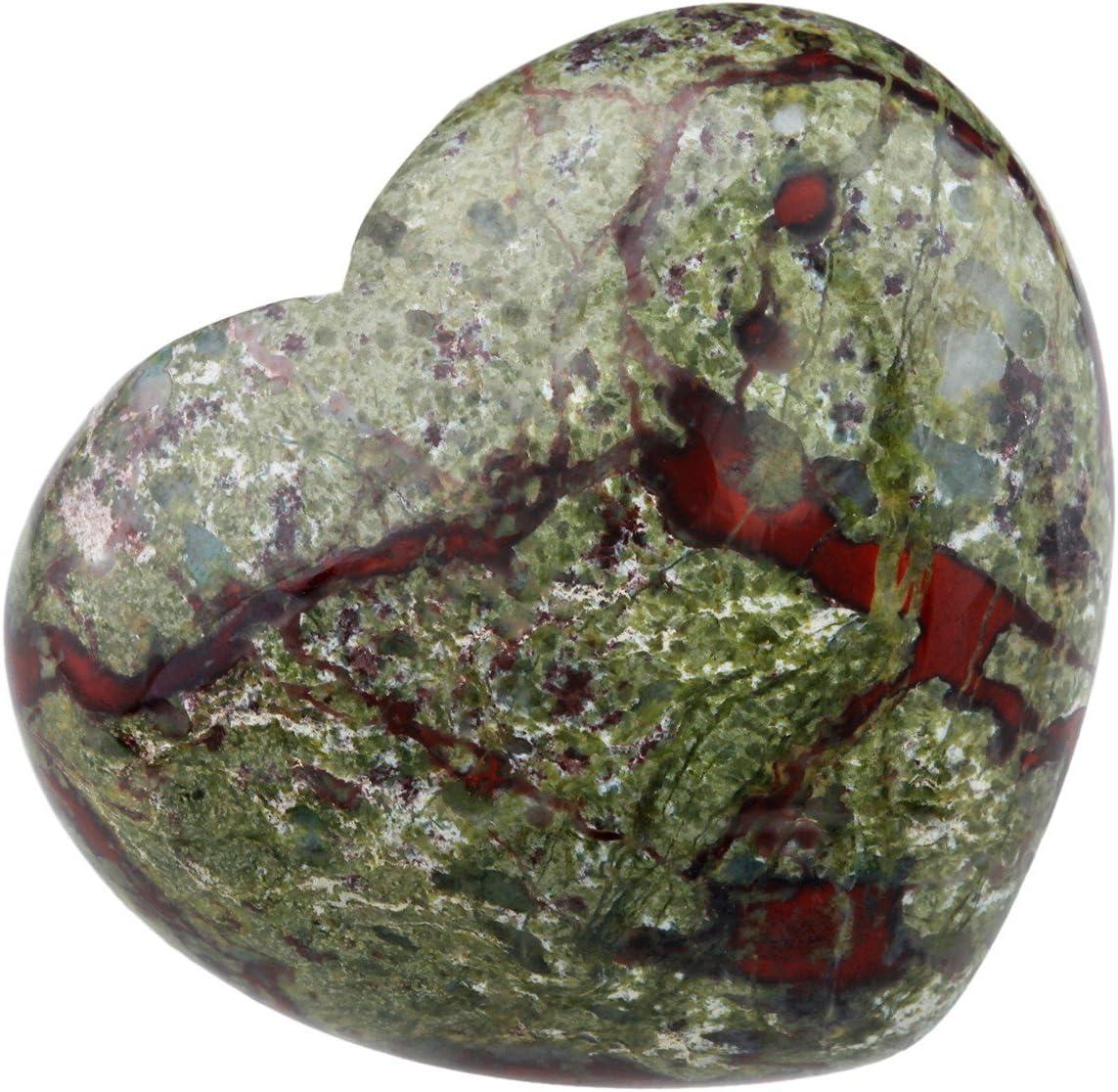 Shanxing Naturel Quartz Rose Pierre C/œur,Poli Pierres et Cristaux pour Chakra Energie Gu/érison M/éditation D/écoration