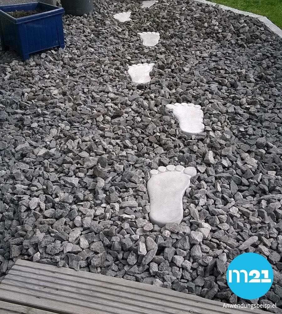 XXL pedalada piedras grandes pies Mega Soporte de huellas 1 par de pedalada piedras de hormigón para el jardín 35 x 22 cm Pedal piedras piedras decorativas Decoración: Amazon.es: Hogar