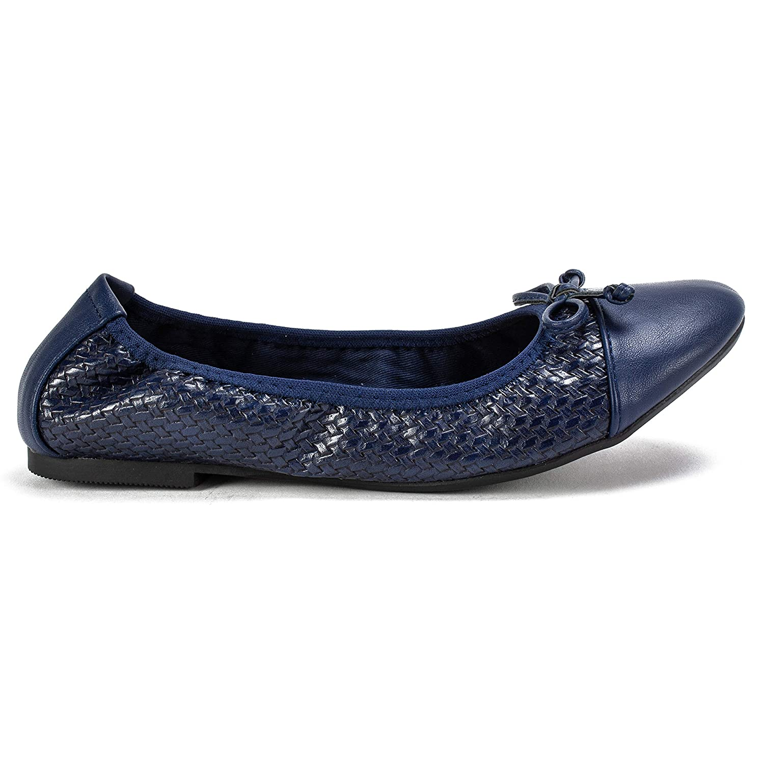 Navy//Woven//Smooth 9H M RIALTO Shoes Sunnyside II Womens Flat