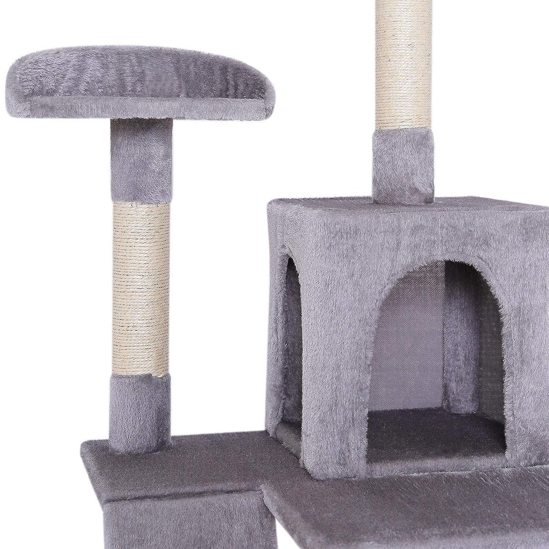Grigio chiaro Dibea Albero Tiragraffi 133 cm