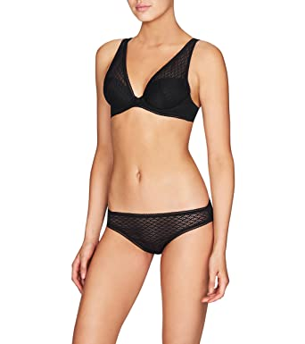 51044573b65a Heidi Klum Intimates Women's A Roman Crush Contour Plunge Bra Bra, Black,  ...