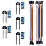 kuman 5PCS Soil Moisture Sensor Kit Compatible with Raspberry pi Arduino Uno R3 Mega 2560 with 10PIN Female to Female Jump Cables 20PIN Male to Female DuPont Jump Cable Automatic Watering System KY70