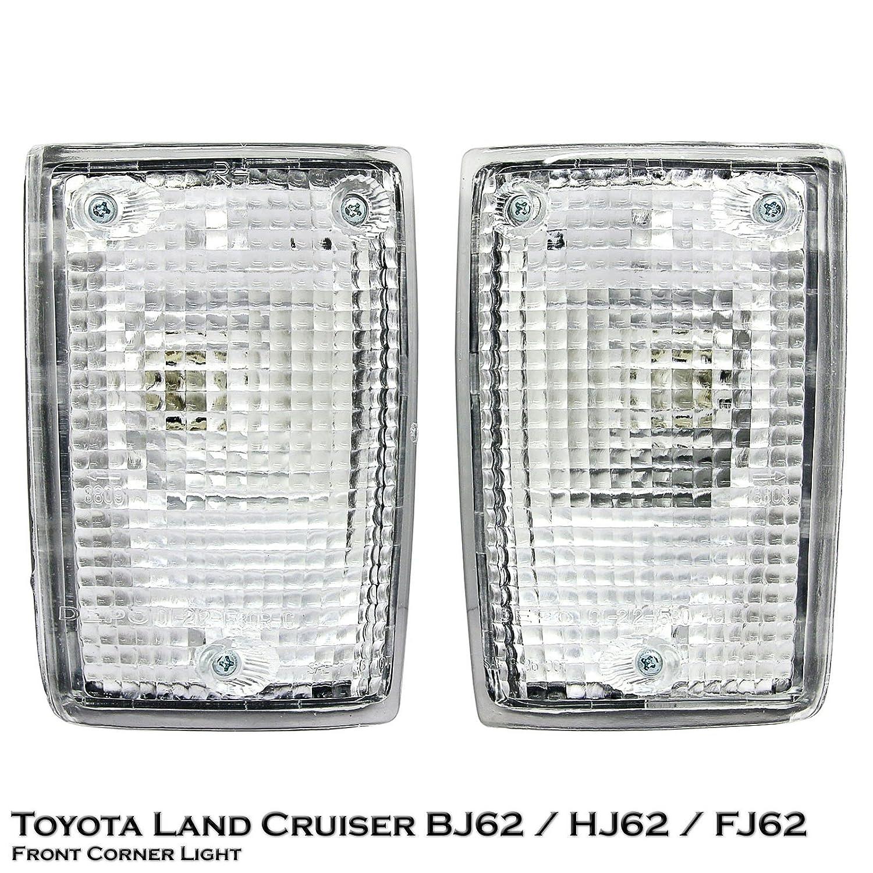 1 Pair Left Right Front Corner Light Toyota Land 1973 Cruiser Differ Bj62 Hj62 Fj62 88 89 Automotive