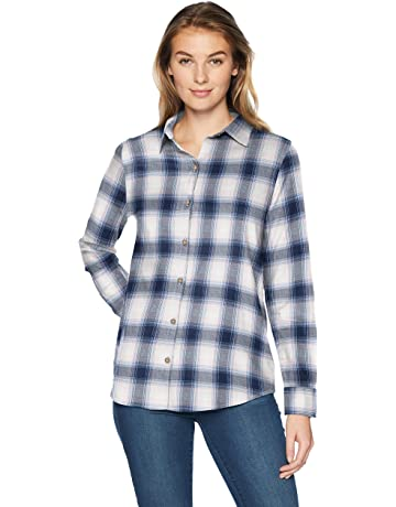 d639ec2b2e0e5d Amazon Essentials Women's Classic-Fit Long-Sleeve Lightweight Plaid Flannel  Shirt