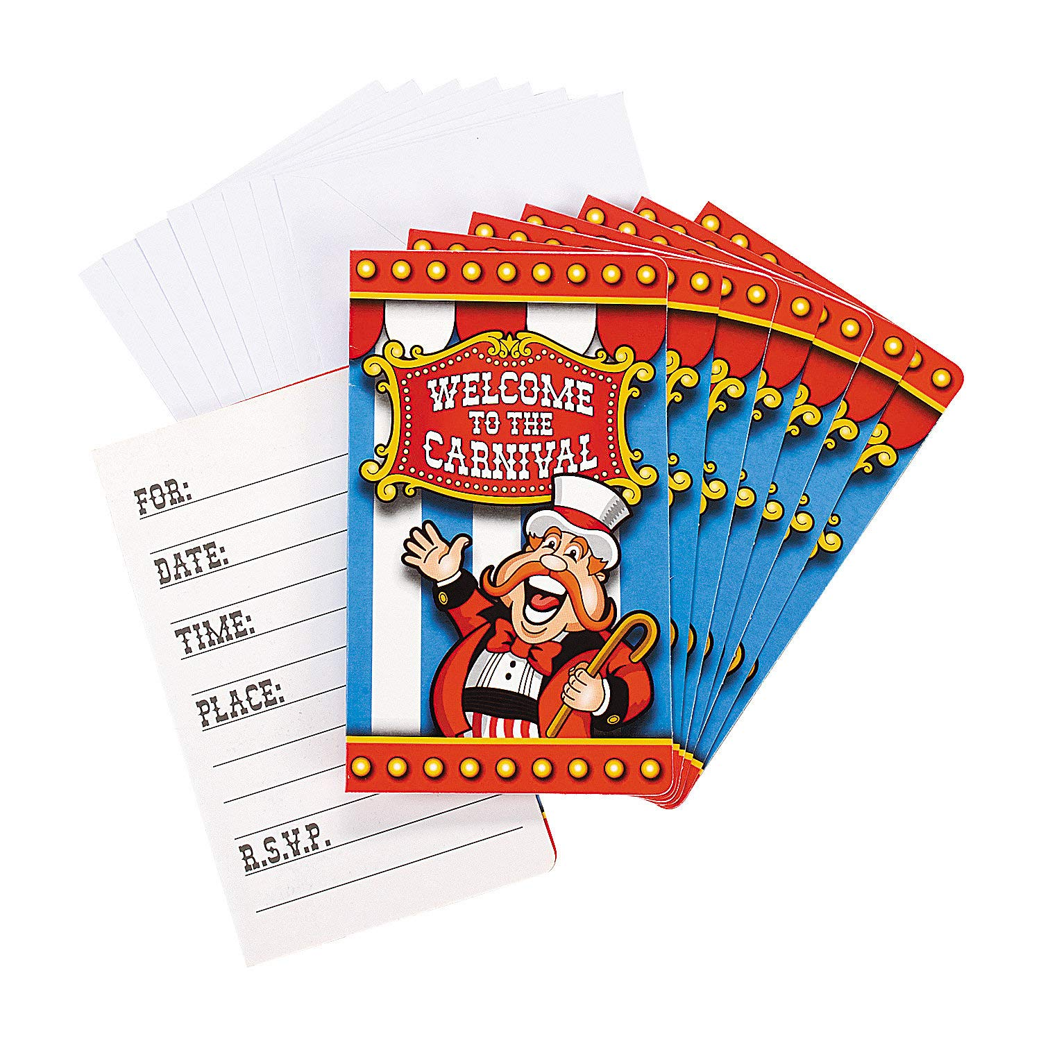 Welcome to the Carnival party invitations (Under the Big Top Invitations Party Accessory)