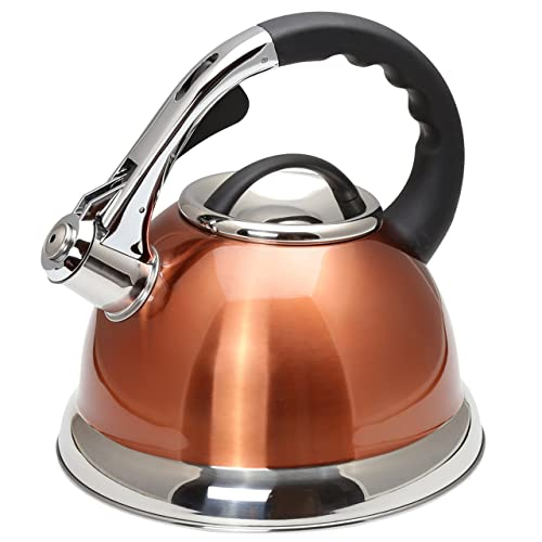 Creative Home 77062 Camille Stainless Steel Whistling Kettle Tea Pot