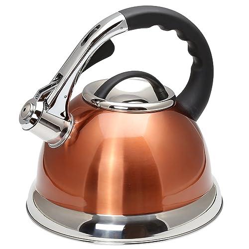 Creative Home 77062 Czajnik do herbaty Camille ze stali nierdzewnej z gwizdkiem