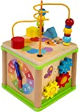 Wooden Activity Cube and Bead Maze Bundle, Baby Activity Cube, Toddler Activity Cube, Toddler Activity Center, Activity Cube for Toddlers, Wooden Baby Toys