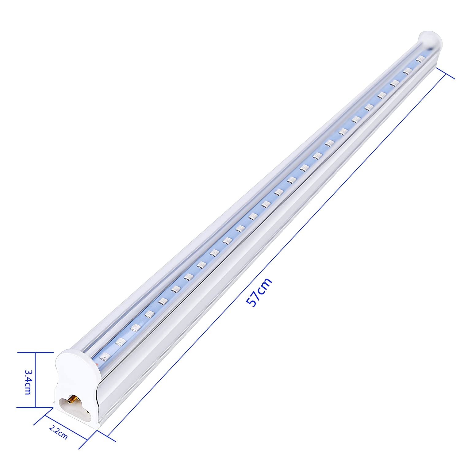 UV LED Black Light Bar Fixture 20W 4ft,T5 Integrated Bulb Tube Lamp,Fluorescent LED Bar Light for Blacklight Poster and Party with ON//Off Switch,4-Pack