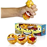 YoYa Toys Emoji Stress Balls By DNA Molecule Squeezing Stress Relief & Fidget Toy - 3 Different Popular Smiley Face - Risk-Free Sensory Toys For Autism, ADHD, Bad Habits & More - Pack of 3