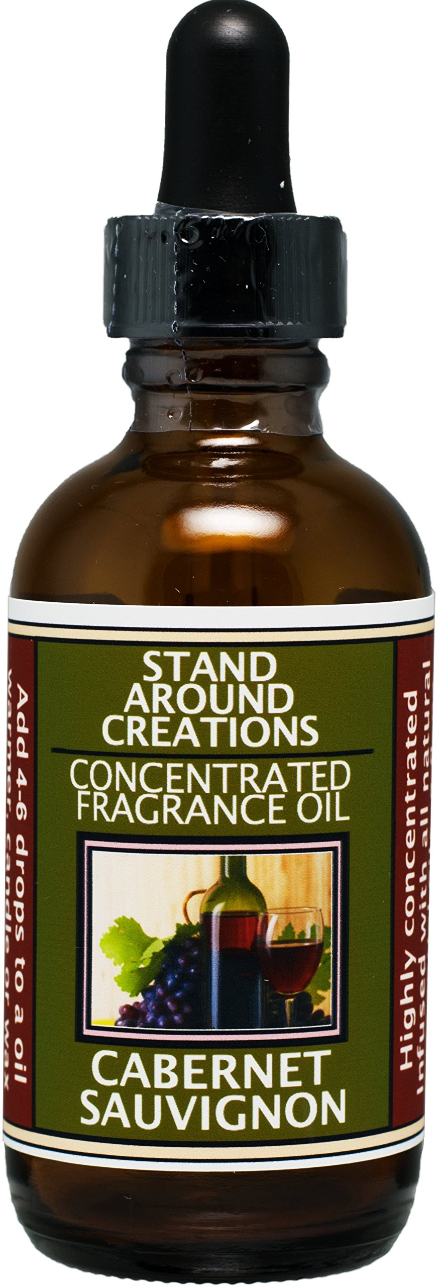 Concentrated Fragrance Oil - Scent - Cabernet Sauvignon- A sweet aroma of wild grapes w/sweet sugary notes. A wonderful aroma of red sweet wine.Infused w/essential oil. (2 fl.oz.) by Stand Around Creations (Image #1)