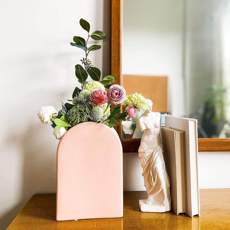 Art Decor Vase Entryway Decor Home Decor Ceramic Vase Living Room Decor Pottery Vase White Vase Ceramic Vases for Flowers Flower Vase