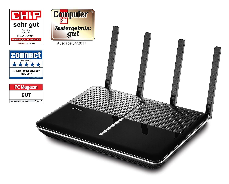 TP-Link Archer VR2800v AC2800 WLAN-Telefonie-DSL-Router: Amazon.de ...