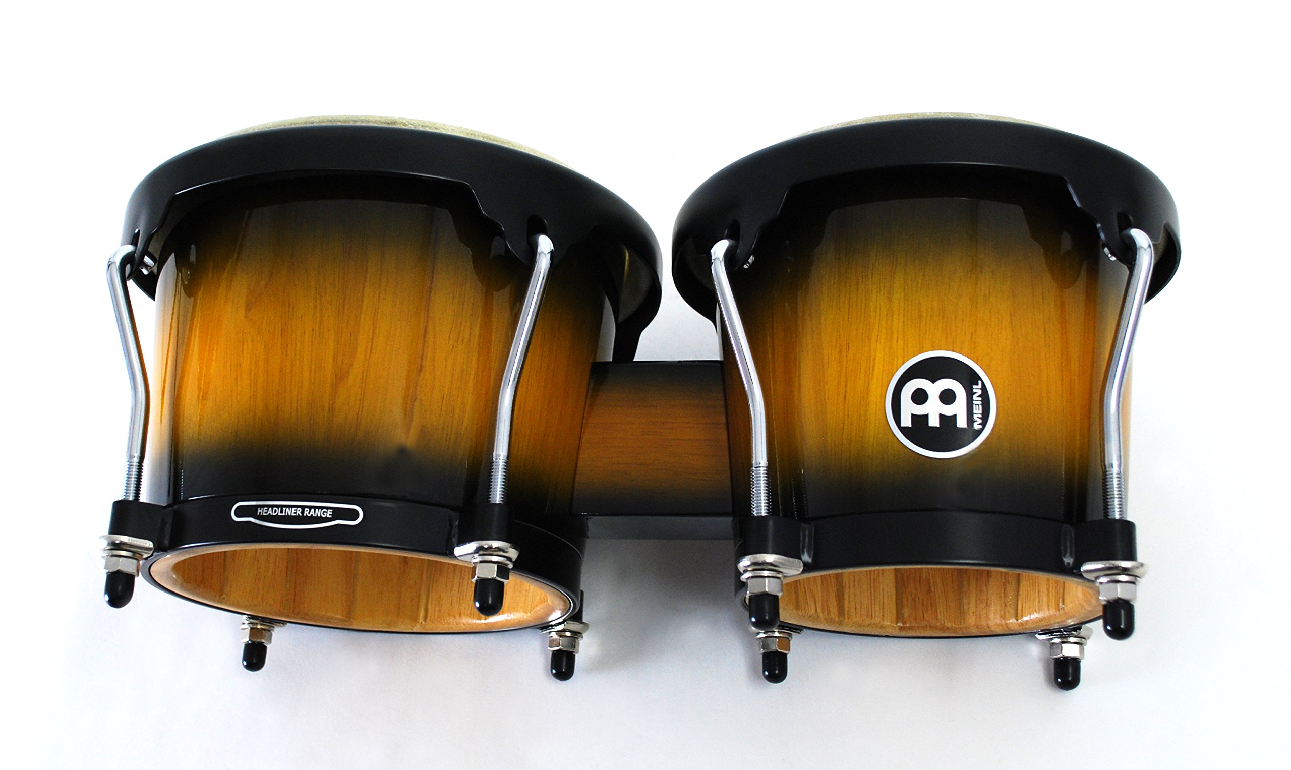 Meinl Percussion Bongos With Hardwood Shells - NOT MADE IN CHINA - Vintage Sun burst Finish, Buffalo Skin Heads, 2-YEAR WARRANTY HB100VSB by Meinl Percussion (Image #5)