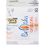 Purina Fancy Feast Broths Adult Wet Cat Food Complement Variety Packs - 12 (1.4 oz. Pouches)
