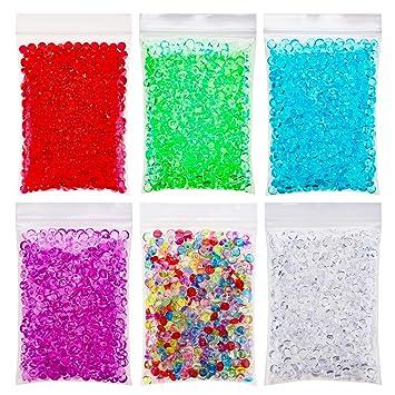 OOTSR Fishbowl Beads, 7mm Cuentas de pecera Slime Beads para Arte DIY Artesanía, Decoración de Fiesta y Boda (6 colores, 300g): Amazon.es: Hogar