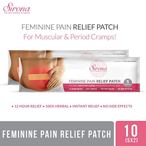 Sirona Feminine Pain Relief Patches - 10 Patches (2 Pack - 5 Patches Each)