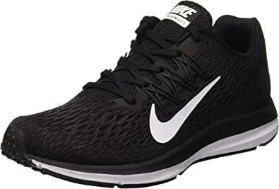 Nike Women's Zoom Winflo 5 Running Shoes, Black/White-Anthracite
