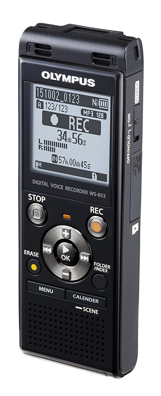amazon com olympus digital voice recorder ws 853 black electronics