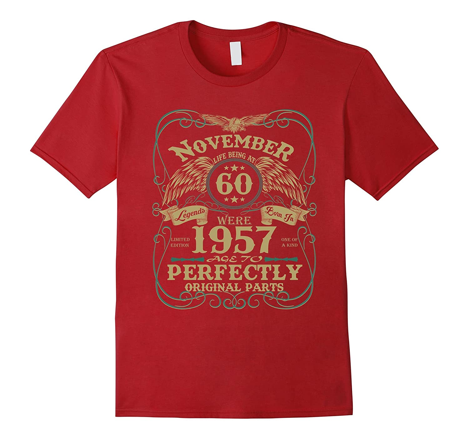Legend November 1957 Vintage Gift Ideas 60th Birthday TShirt ANZ