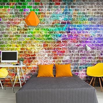 Decomonkey | Fototapete Ziegelmauer 3D Steinwand Steine 400x280 Cm XXL |  Design Tapete | Fototapeten |