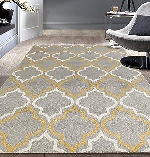 rugshop modern moroccan trellis area rug 5u0027 x 7u0027 grayyellow