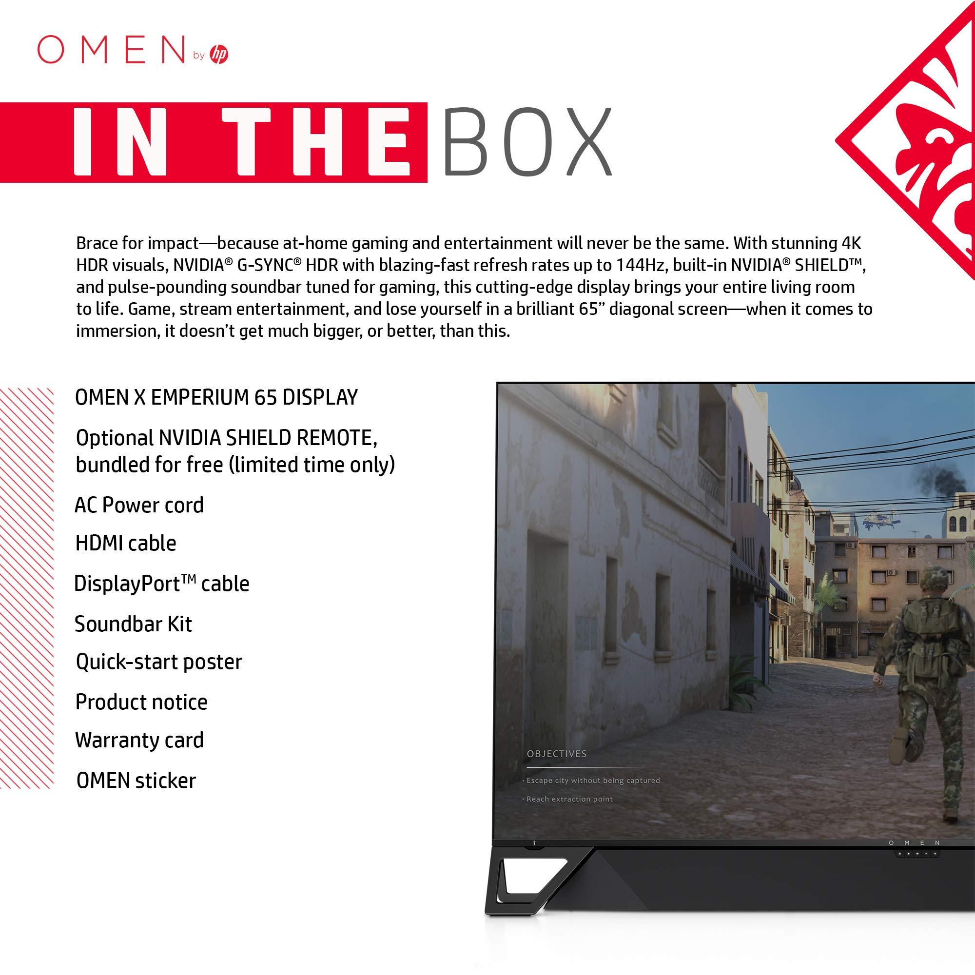 OMEN X by HP Emperium 65 inch 4K Big Format Gaming Display