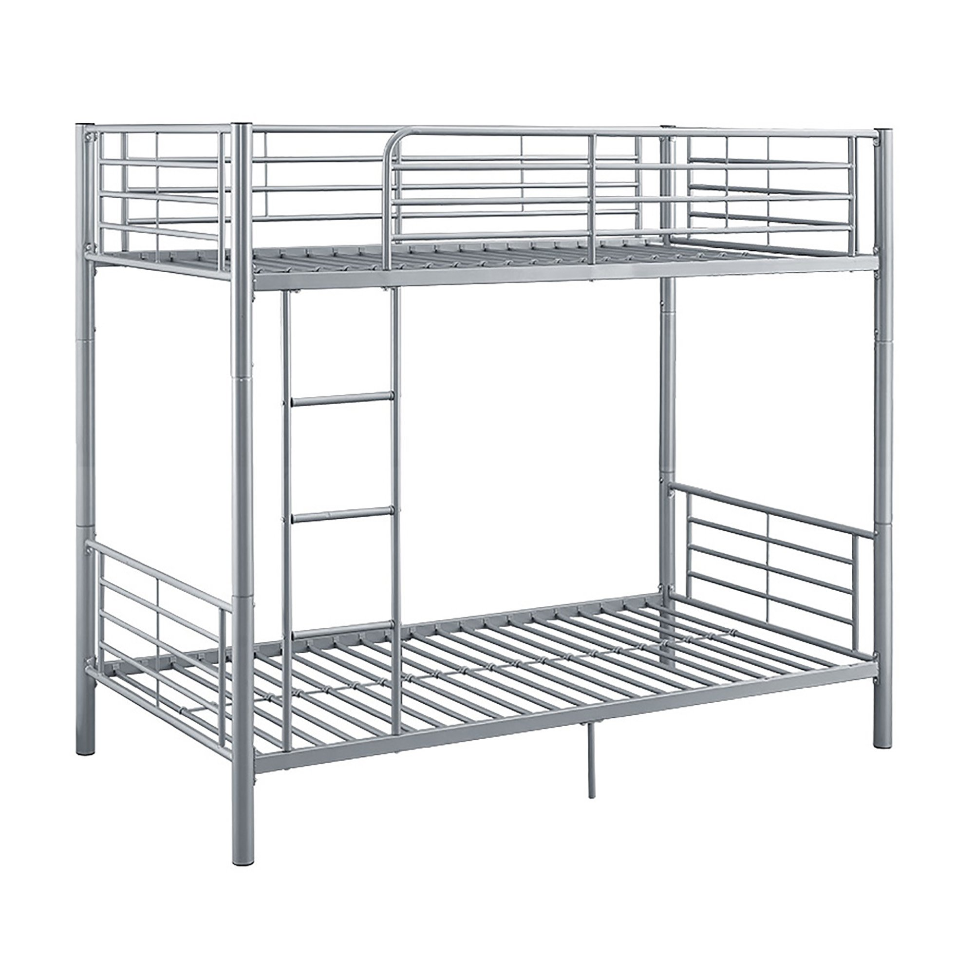 New Silver Twin over Twin Metal Bunk Bed by Home Accent Furnishings